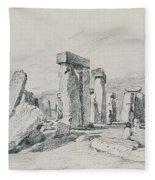 Stonehenge Wiltshire Fleece Blanket