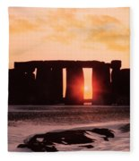 Stonehenge Winter Solstice Fleece Blanket