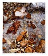 Stones And Ice Fleece Blanket