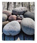 Stones And Old Wood 3  Fleece Blanket