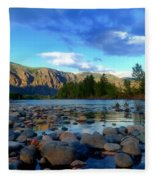 Stones By The Similkameen Fleece Blanket
