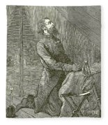 Stonewall Jackson Praying Before The Battle Fleece Blanket