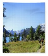 Stoney Indian Pass Trail Around Cosley Lake - Glacier National Park Fleece Blanket