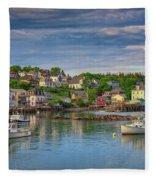 Stonington Harbor Fleece Blanket