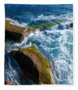 Stony Shore In Costa Adeje Fleece Blanket