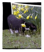 Stop And Feel The Flowers Fleece Blanket