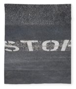 Stop Fleece Blanket
