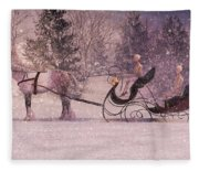 Stopping By Woods Fleece Blanket