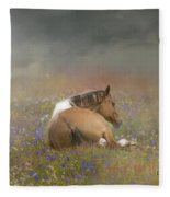 Stopping To Smell The Flowers Fleece Blanket