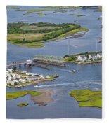 Stopping Traffic Topsail Island Fleece Blanket