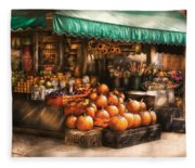 Store - Hoboken Nj - The Fruit Market Fleece Blanket