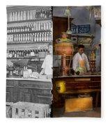Store - In A General Store 1917 Side By Side Fleece Blanket