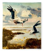 Storks II Fleece Blanket