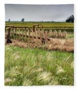 Storm Across The Prairie Fleece Blanket