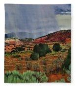 Storm Approaching The Ridge Fleece Blanket