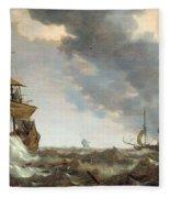 Storm At Sea Fleece Blanket