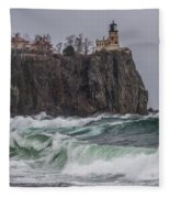 Storm At Split Rock Lighthouse Fleece Blanket