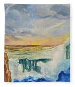 Storm At Sunset Fleece Blanket