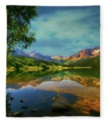 Storm At Trout Lake Fleece Blanket