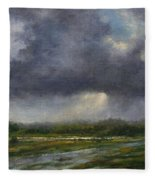 Storm Brewing Over The Refuge Fleece Blanket