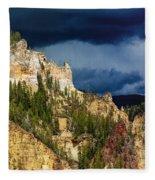 Storm Brewing Over Yellowstone Fleece Blanket