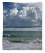Storm Clouds Above The Atlantic Ocean Fleece Blanket