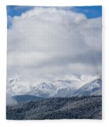 Storm Clouds And Snow On Pikes Peak Fleece Blanket