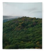 Storm Clouds Over Fall Nature Scenery Fleece Blanket
