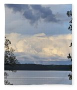 Storm Clouds Over Kentucky Lake Fleece Blanket