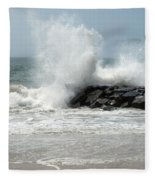 The Ocean's Strength Fleece Blanket