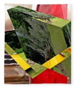 Storm Damage And Tail Light As Art Fleece Blanket