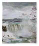 Storm In Niagara Falls  Fleece Blanket