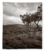 Storm Moving In - Sepia Fleece Blanket
