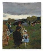 Storm On The Bois De Boulogne Fleece Blanket