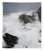 Storm On The Oregon Coast 2 Fleece Blanket