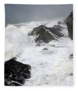 Storm On The Oregon Coast Fleece Blanket