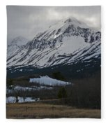 Storm On The Rocky Mountain Front Fleece Blanket