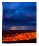 Storm On The Way Fleece Blanket