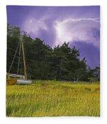 Storm Over Knott's Island Fleece Blanket