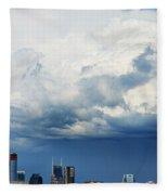 Storm Over Nashville Fleece Blanket