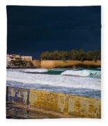 Storm Over The Aegean Fleece Blanket