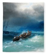Storm Over The Black Sea Fleece Blanket