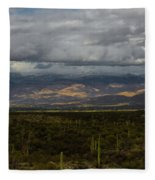 Storm Over The Mountains Of Arizona Fleece Blanket