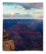 Storm Passes The Grand Canyon Fleece Blanket