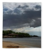 Storm Rolling In Fleece Blanket