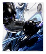 Storm Shadow Abstract Fleece Blanket