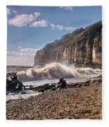 Storm Tide Cliffs End Fleece Blanket