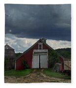 Storm Upon Maple Grove Farm Fleece Blanket