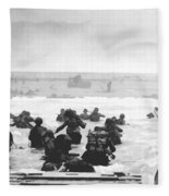 Storming The Beach On D-day  Fleece Blanket