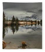 Storms Over Talbot Lake Fleece Blanket